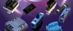 Various solid state relays from CELDUC on purple background.