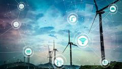Smart energy concept: renewable energy and internet of things.