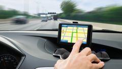 Ein Navigationssystem im Auto.