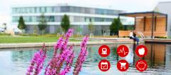 Dieses Bild zeigt die CODICO Benefits mit dem Bürogebäude im Hintergrund.