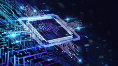 Dieses Bild zeigt einen Chip mit künstlicher Intelligenz.