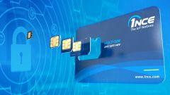 Eine SIM-Karte von 1NCE.