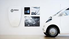 This image shows an e-car with an energy storage.