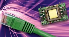 Power over Ethernet (PoE) on a pink and purple background.