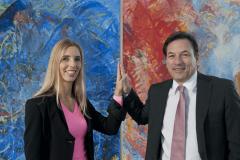 Dieses Bild zeigt die CEOs Karin und Sven Krumpel.