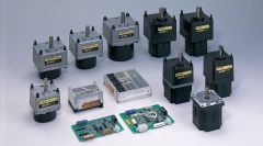 13 different types of EC motors standing on a white underground.